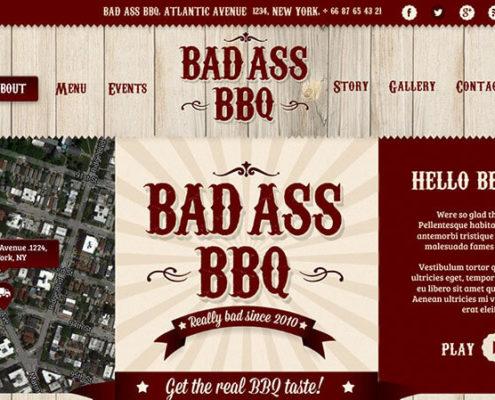 Bad Ass BBQ WordPress Theme for Food Trucks