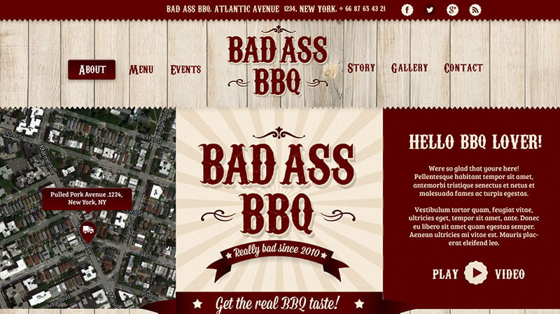 Bad Ass BBQ WordPress Theme for Food Trucks