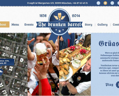 Bavaria Blue Food Truck WordPress Theme