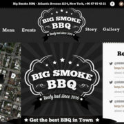 BIg Smoke BBQ Food Truck WordPress Theme