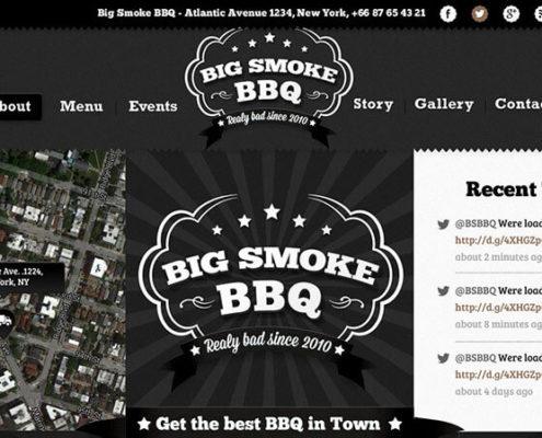 BIg Smoke BBQ Food Truck WordPress Theme