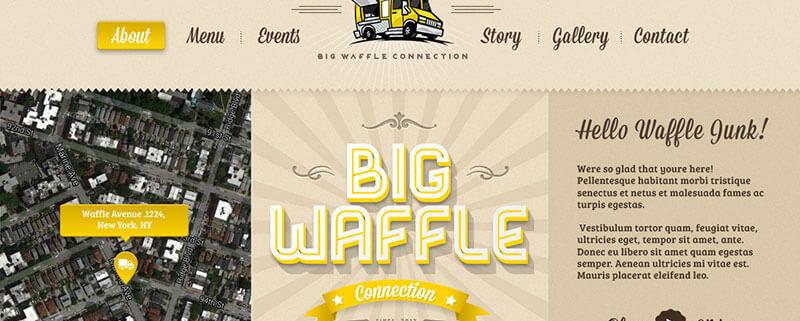 Big Waffle Food Truck WordPress Theme