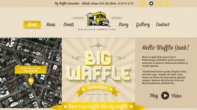 Big Waffle Food Truck WordPress Theme