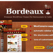 Bordeaux WordPress Restaurant Theme