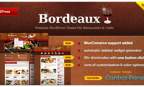 Bordeaux WordPress Restaurant Theme