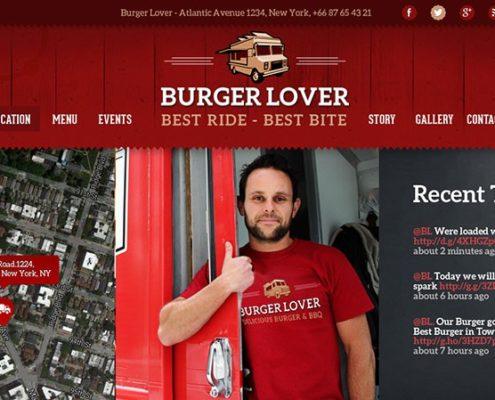 Burger Lover Food Truck WordPress Theme