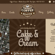 Coffe & Cream Food Truck WordPress Theme