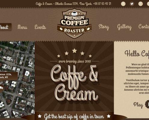 Coffe & Cream Food Truck WordPress Theme