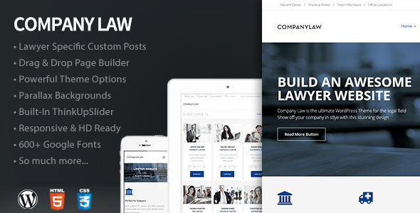 Company Law WordPress Theme