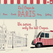 Le Crepe de Paris Food Truck Theme