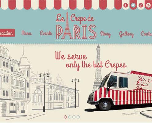 Le Crepe de Paris Food Truck Theme