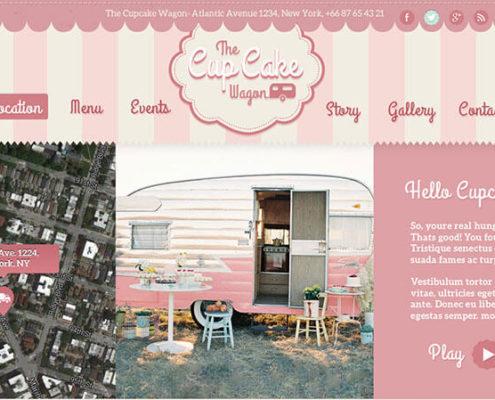 Cupcake Wagon - Food Truck WordPress Theme