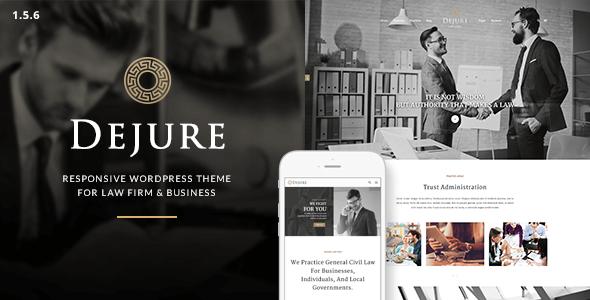 Dejure - Law Firm WordPress Theme
