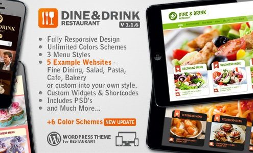 Dine & Drink WordPress Restaurant Theme