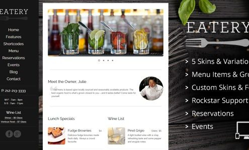 Eatery - Restaurant WordPress Theme