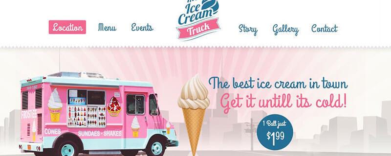 Ice Cream Truck WordPress Theme