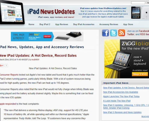 Ipad News Updates