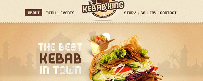 Kebab King Food Truck WordPress Theme