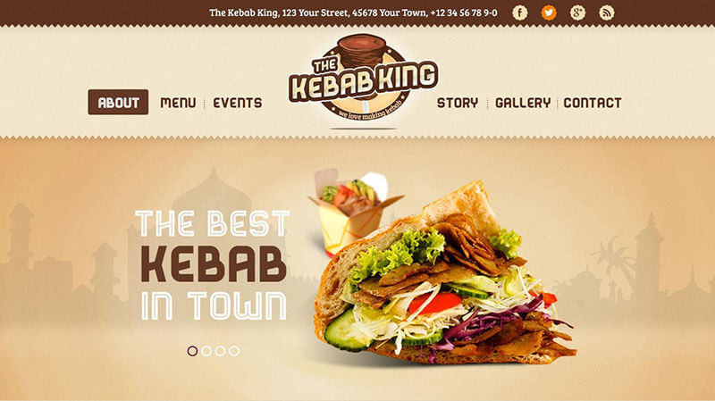Kebab King Food Truck WordPress Theme