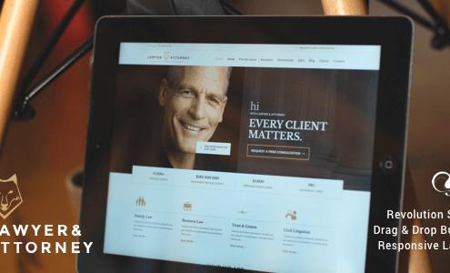 Lawyers & Attorneys WordPress Theme