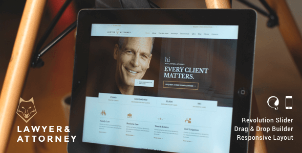 Lawyers & Attorneys WordPress Theme