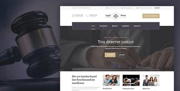 Legal Press WordPress Theme for Lawyers