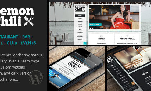 Lemon Chili WordPress Restaurant Theme