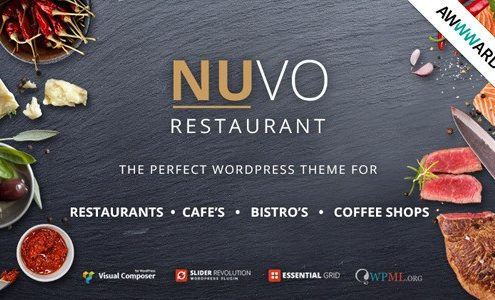 NUVO WordPress Restaurant Theme