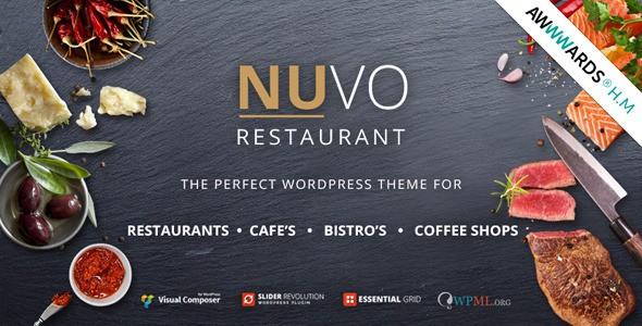 NUVO WordPress Restaurant Theme