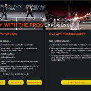 Play With The Pros VIP Experience - PowerShares Series Tennis