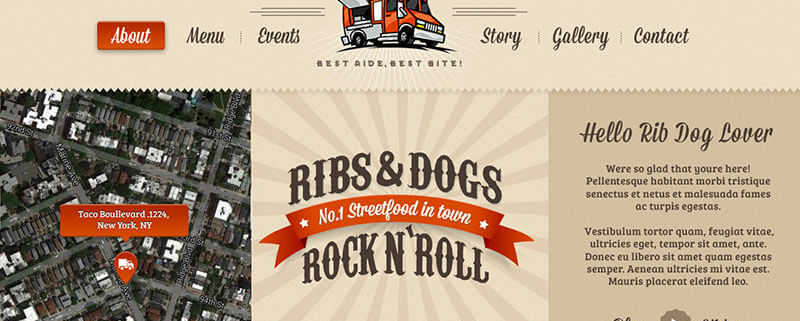 Ribs and Hotdogs Food Truck