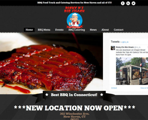 Ricky D's Rib Shack in New Haven, CT - Website by Elm City Web
