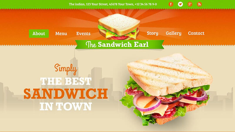 The Sandwich Earl Food Truck WordPress Theme