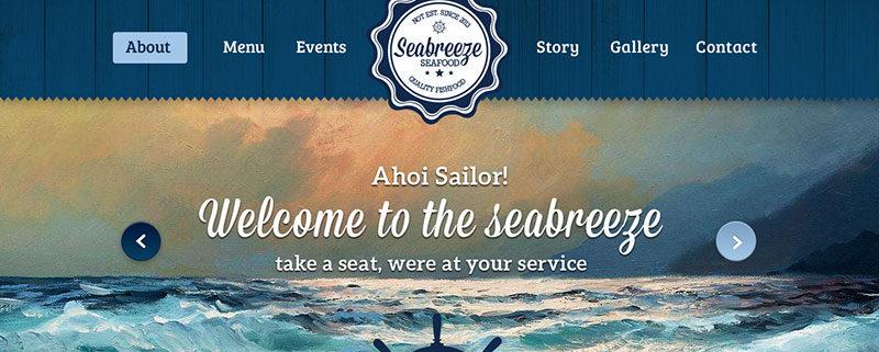 Seabreeze Food Truck WordPress Theme