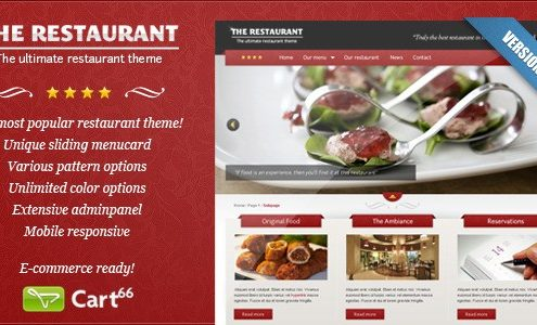 The Restaurant - WordPress Theme