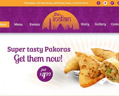 The Indian Restaurant WordPress Theme